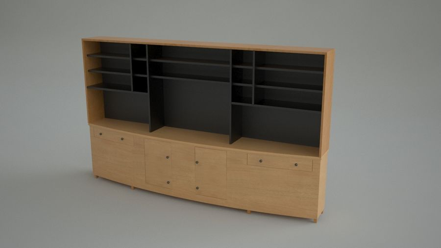 Wall Unit royalty-free 3d model - Preview no. 4