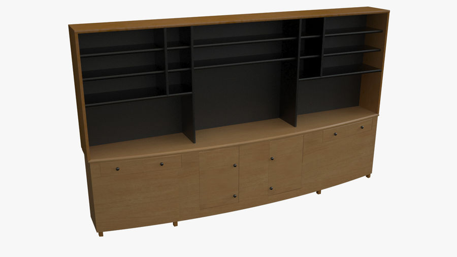 Wall Unit royalty-free 3d model - Preview no. 1