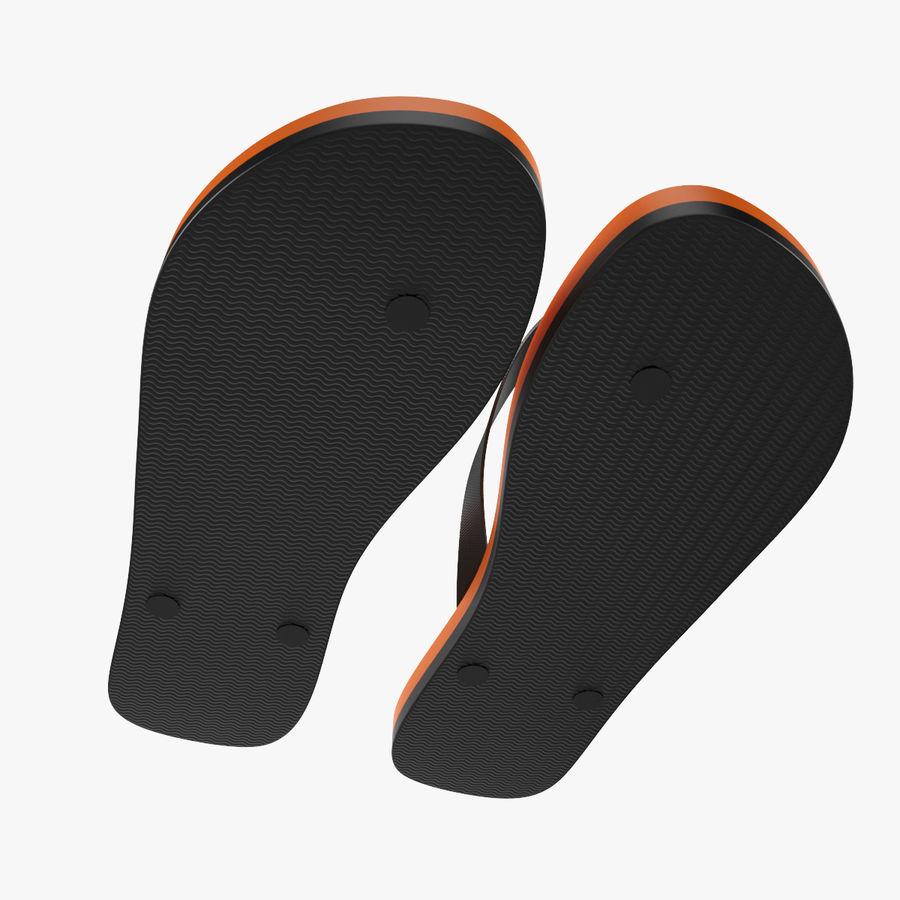 Puma Flip-Flops Orange royalty-free 3d model - Preview no. 10
