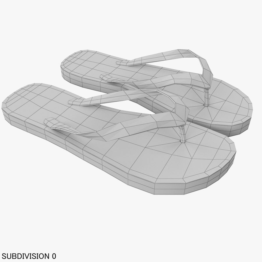 Puma Flip-Flops Orange royalty-free 3d model - Preview no. 12