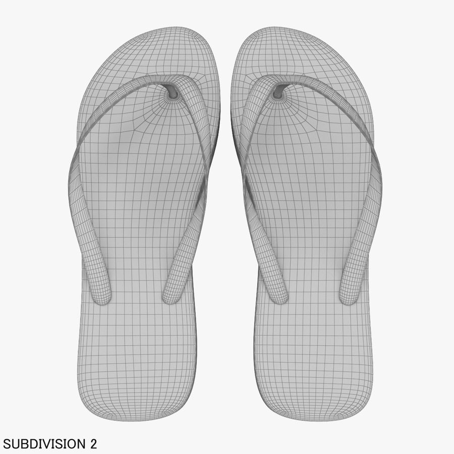 Puma Flip-Flops Orange royalty-free 3d model - Preview no. 17