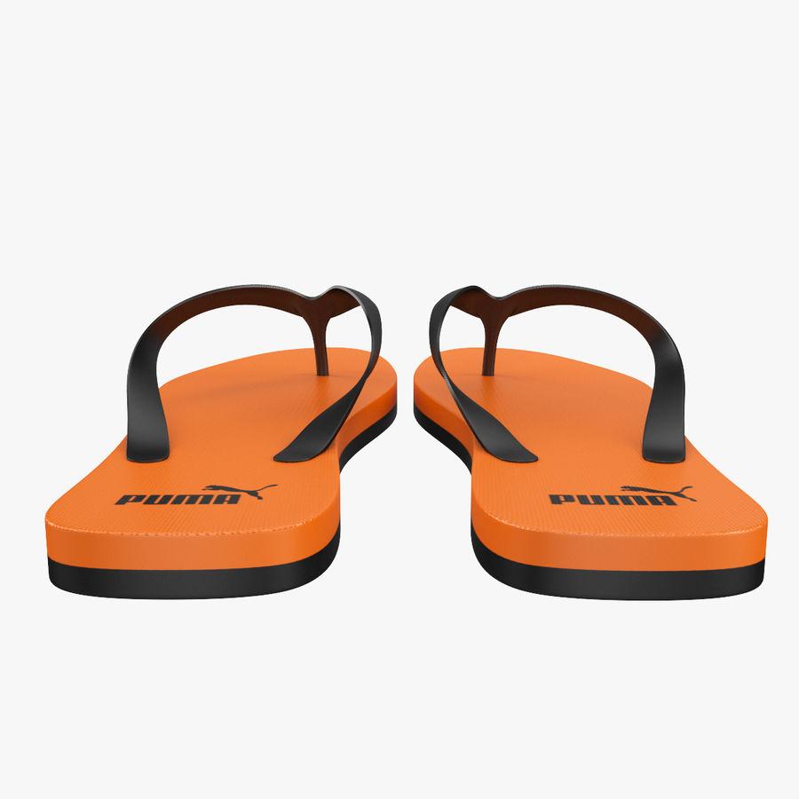 Puma Flip-Flops Orange royalty-free 3d model - Preview no. 4