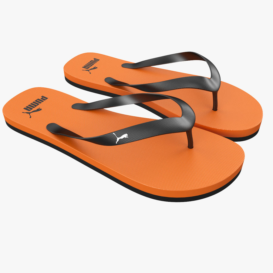 Puma Flip-Flops Orange royalty-free 3d model - Preview no. 1