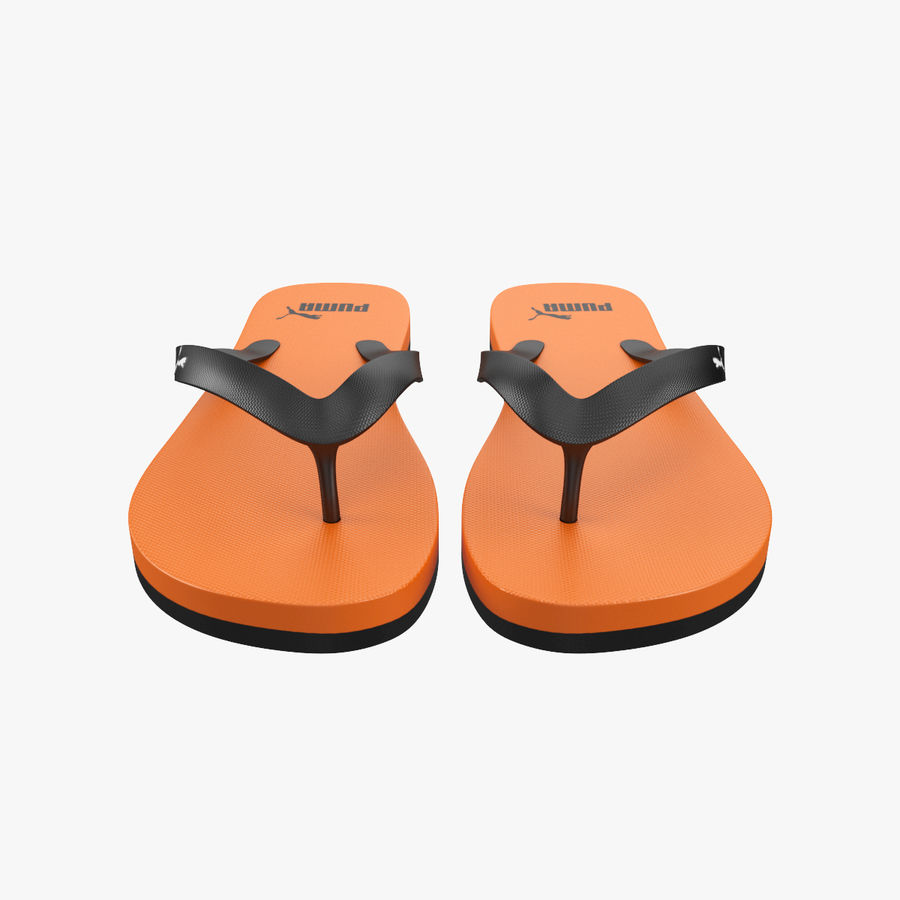 Puma Flip-Flops Orange royalty-free 3d model - Preview no. 3