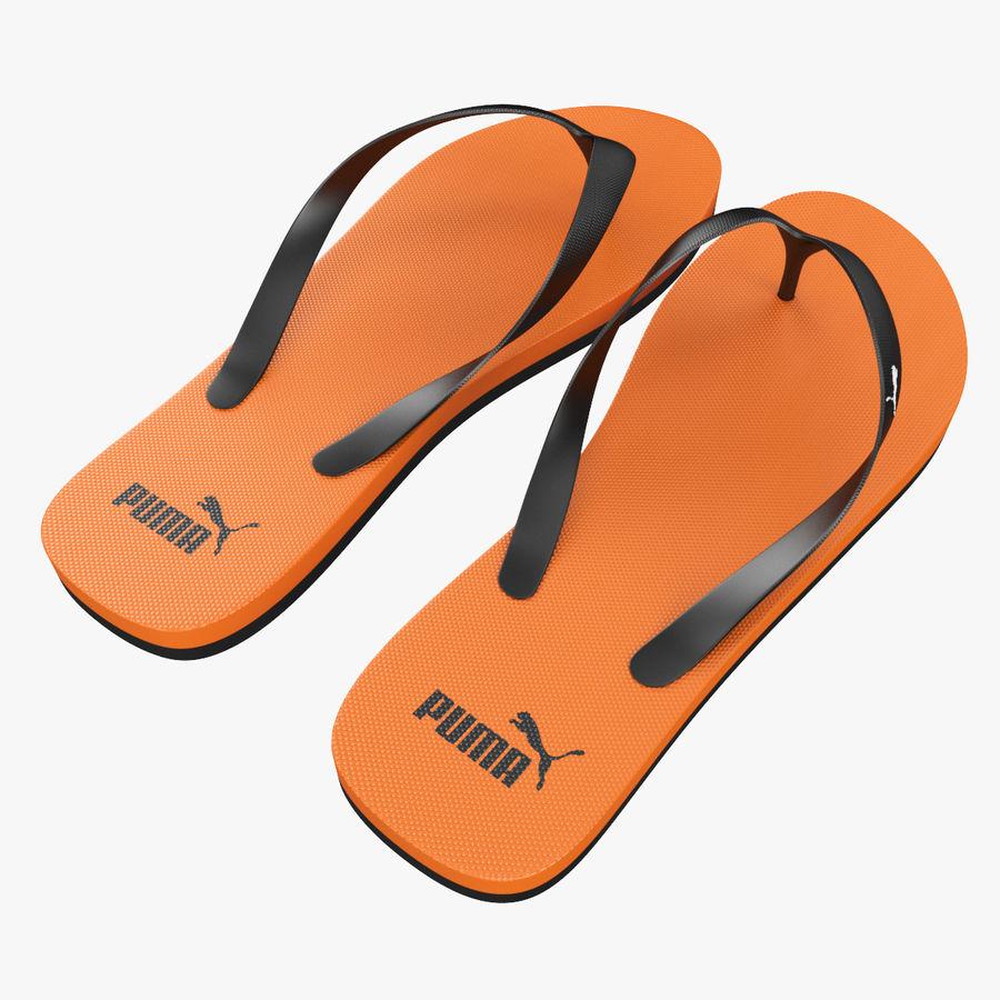 Puma Flip-Flops Orange royalty-free 3d model - Preview no. 6