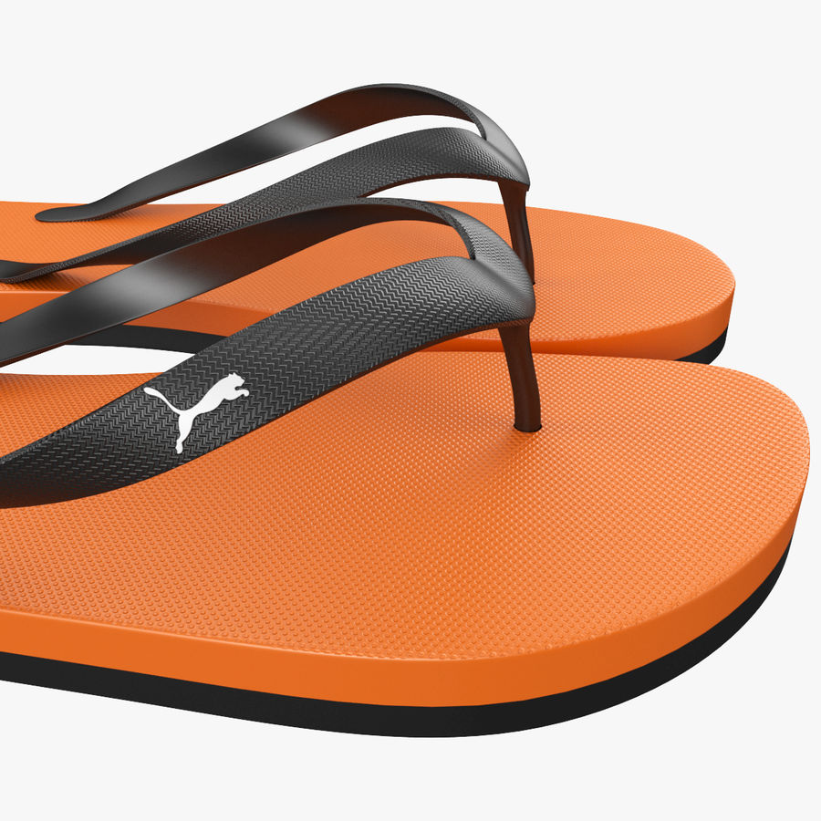 Puma Flip-Flops Orange royalty-free 3d model - Preview no. 9