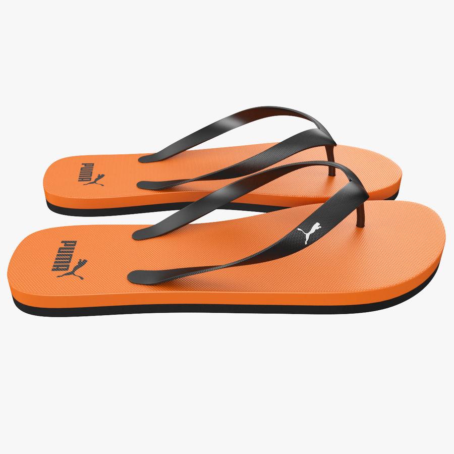 Puma Flip-Flops Orange royalty-free 3d model - Preview no. 7