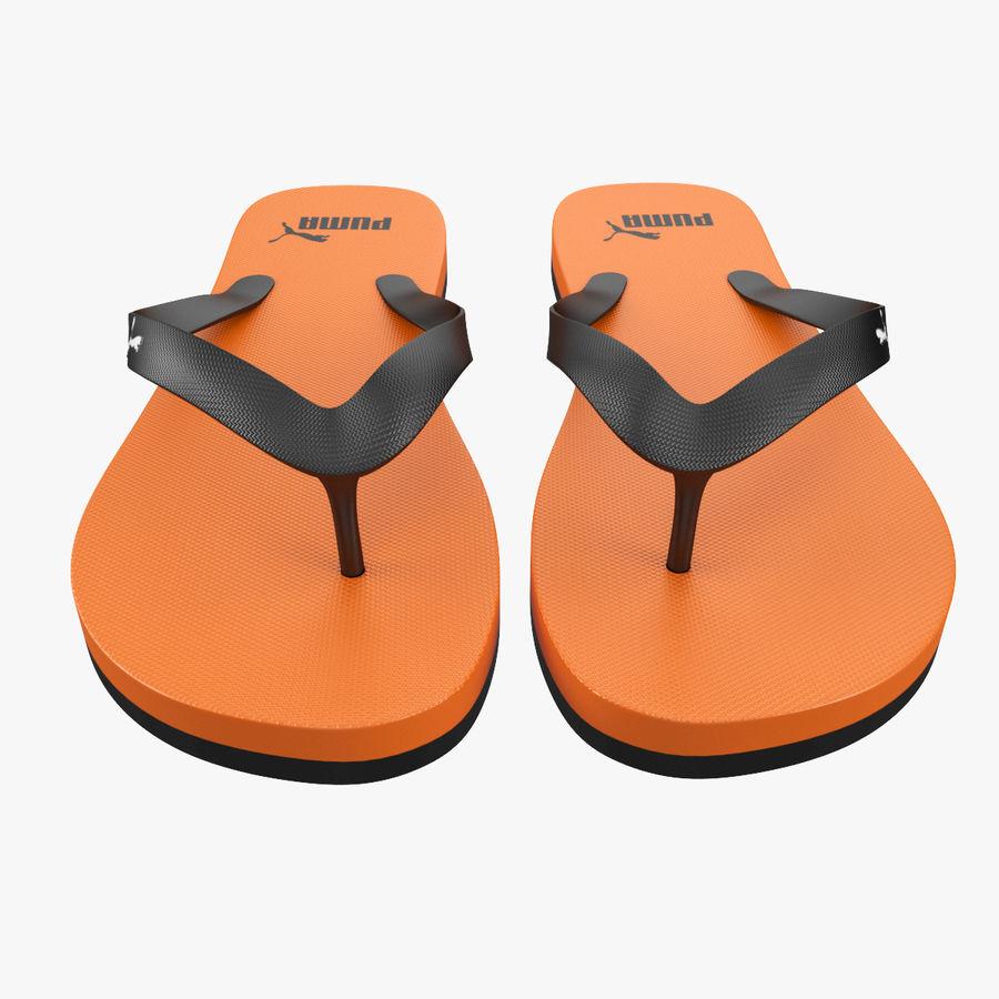 Puma Flip-Flops Orange royalty-free 3d model - Preview no. 8