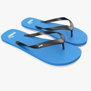 Puma Flip-Flops Blue 3d model