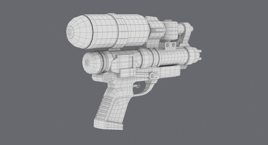 Vattenpistol royalty-free 3d model - Preview no. 21