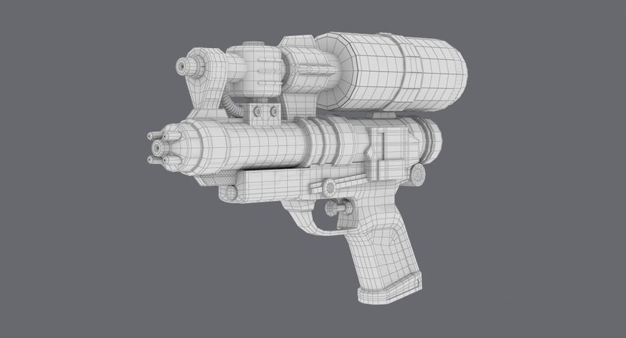 Vattenpistol royalty-free 3d model - Preview no. 19