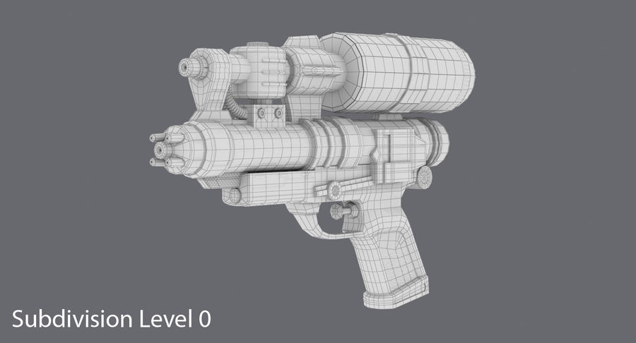 Vattenpistol royalty-free 3d model - Preview no. 13