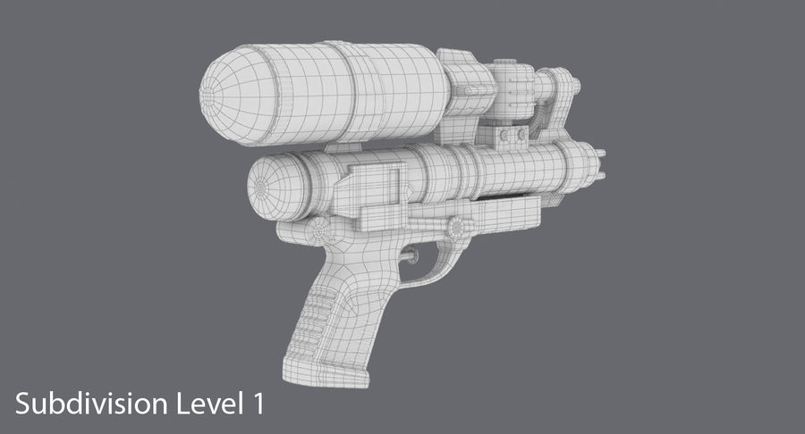 Vattenpistol royalty-free 3d model - Preview no. 18