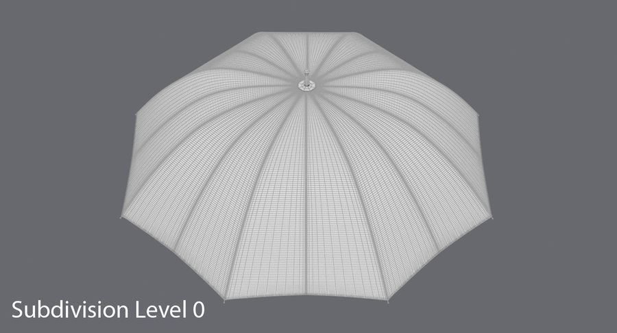Open Red Umbrella royalty-free 3d model - Preview no. 15