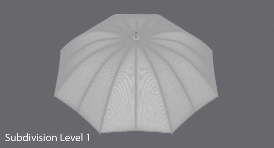 Open Red Umbrella royalty-free 3d model - Preview no. 16