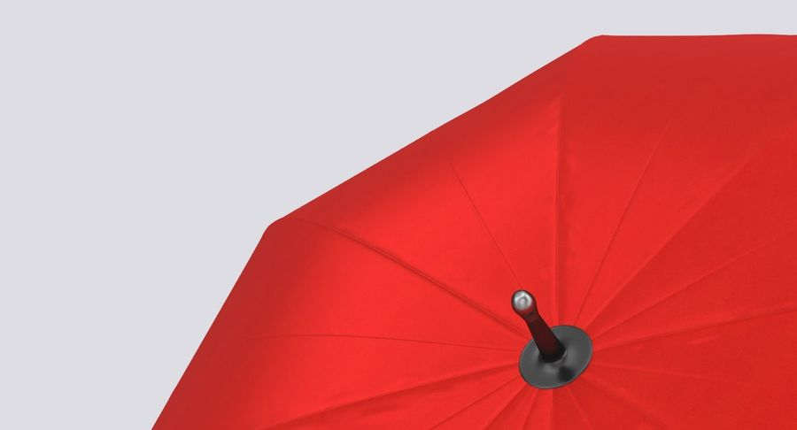 Open Red Umbrella royalty-free 3d model - Preview no. 8