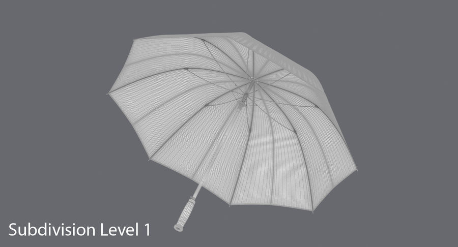 Open Red Umbrella royalty-free 3d model - Preview no. 14