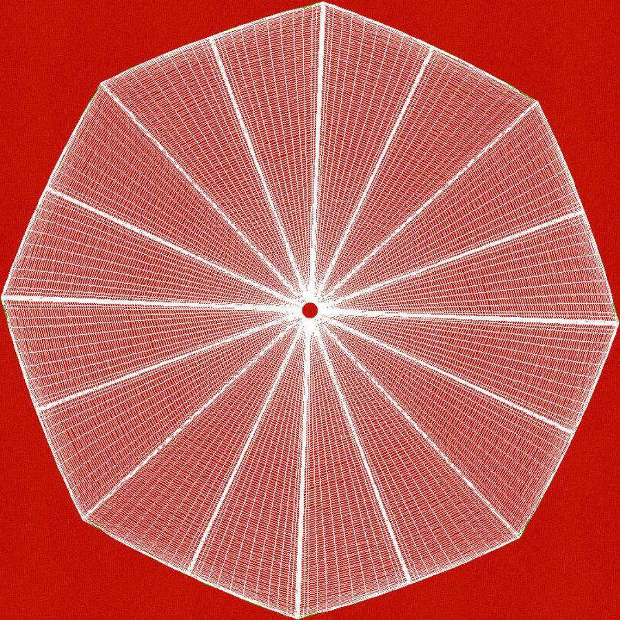 Otwórz czerwony parasol royalty-free 3d model - Preview no. 19