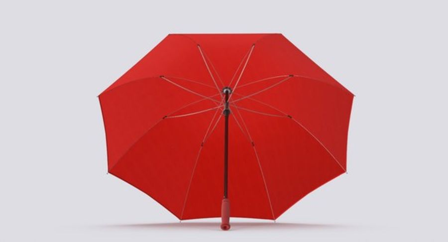 Open Red Umbrella royalty-free 3d model - Preview no. 7
