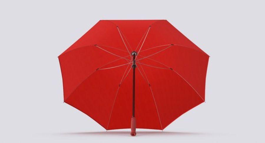 Otwórz czerwony parasol royalty-free 3d model - Preview no. 7