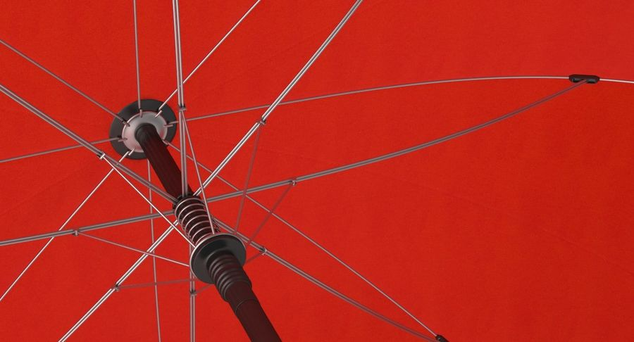 Open Red Umbrella royalty-free 3d model - Preview no. 9