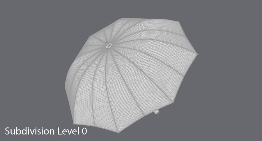 Open Red Umbrella royalty-free 3d model - Preview no. 17
