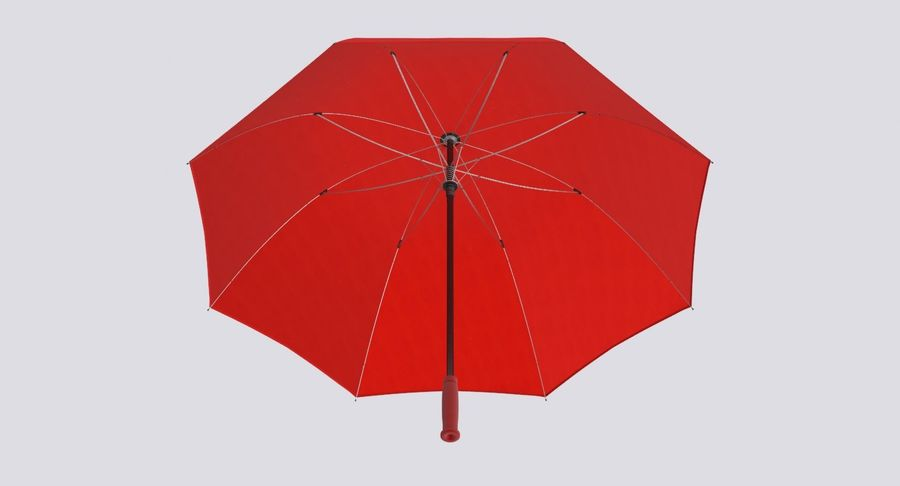 Open Red Umbrella royalty-free 3d model - Preview no. 12