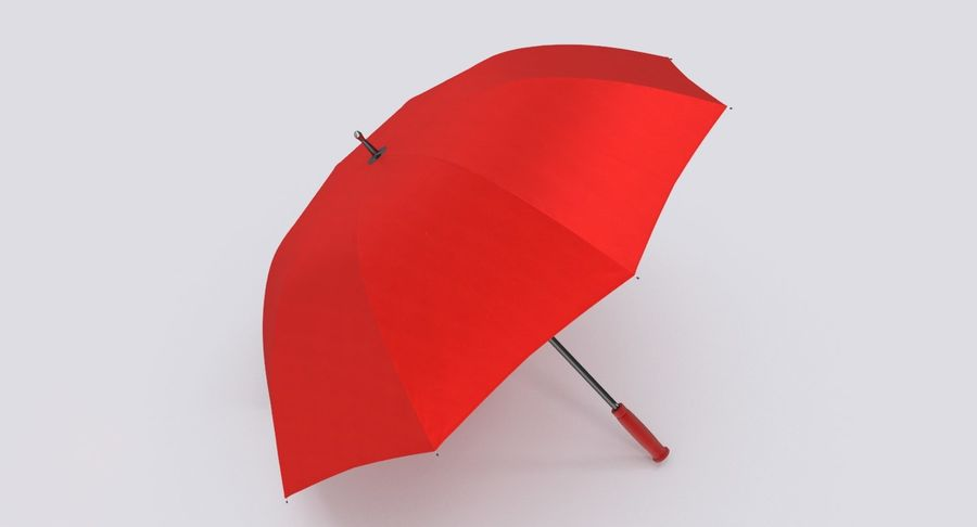 Open Red Umbrella royalty-free 3d model - Preview no. 6