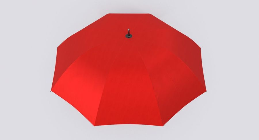 Otwórz czerwony parasol royalty-free 3d model - Preview no. 11