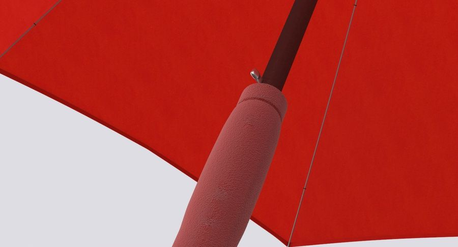 Open Red Umbrella royalty-free 3d model - Preview no. 10