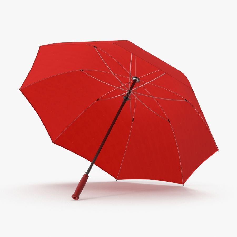Open Red Umbrella royalty-free 3d model - Preview no. 1