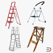 Coleção de modelos 3D de escadas 3d model