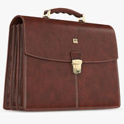Briefcase Classic Leather 3d model
