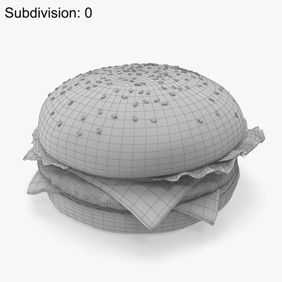 햄버거 royalty-free 3d model - Preview no. 8
