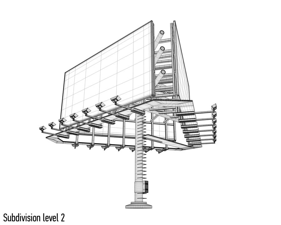 Billboards royalty-free 3d model - Preview no. 30
