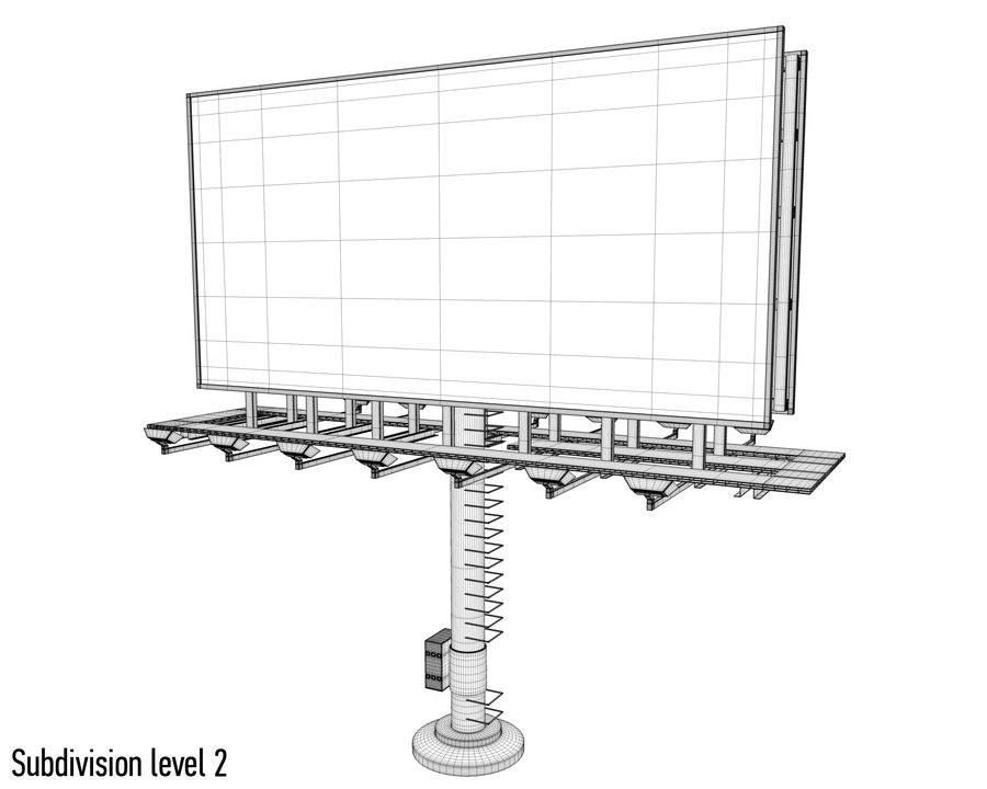 Billboards royalty-free 3d model - Preview no. 18