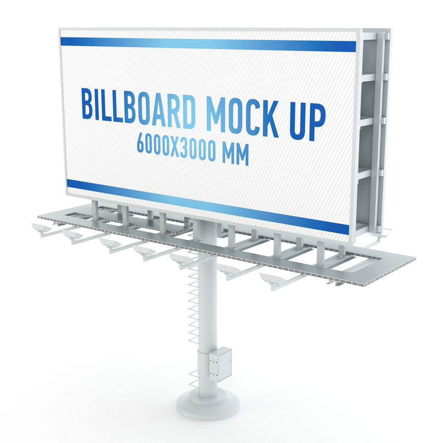 Billboards royalty-free 3d model - Preview no. 8