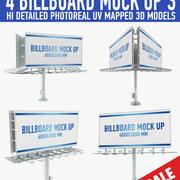 billboards 3d model