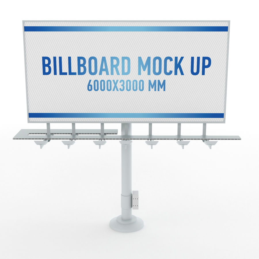 Billboards royalty-free 3d model - Preview no. 5