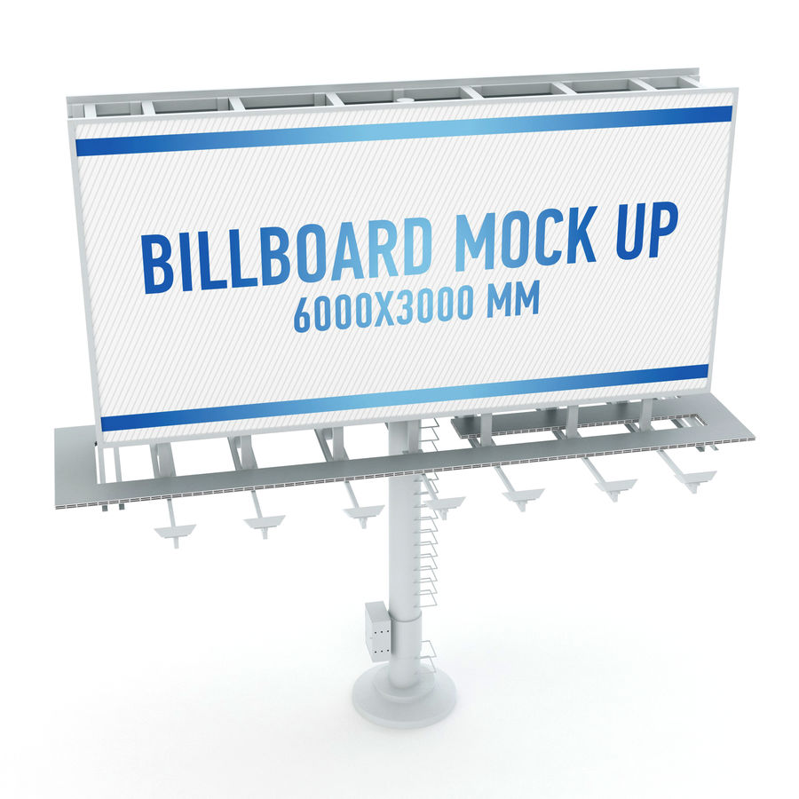 Billboards royalty-free 3d model - Preview no. 6