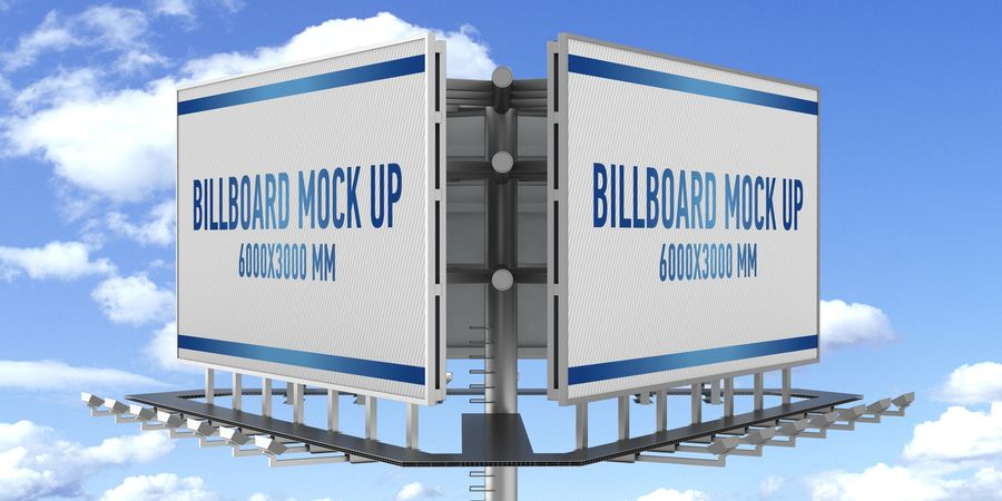 Billboards royalty-free 3d model - Preview no. 23