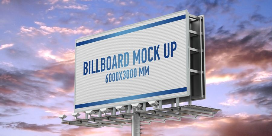 Billboards royalty-free 3d model - Preview no. 14