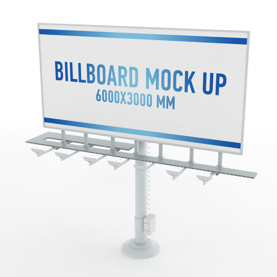 Billboards royalty-free 3d model - Preview no. 2
