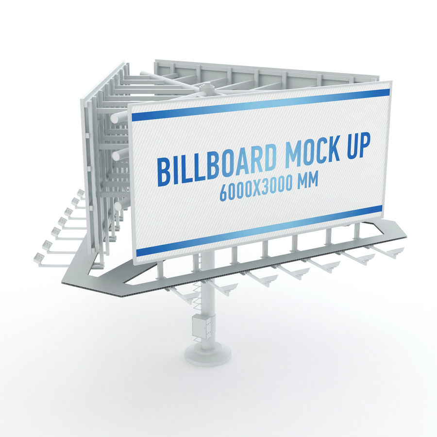 Billboards royalty-free 3d model - Preview no. 22