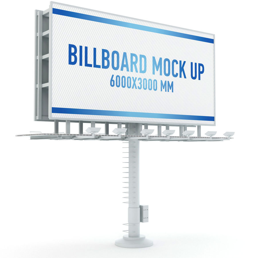 Billboards royalty-free 3d model - Preview no. 11