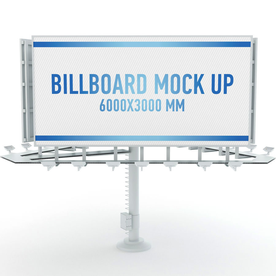 Billboards royalty-free 3d model - Preview no. 24
