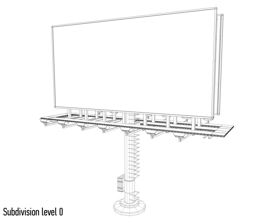 Billboards royalty-free 3d model - Preview no. 17