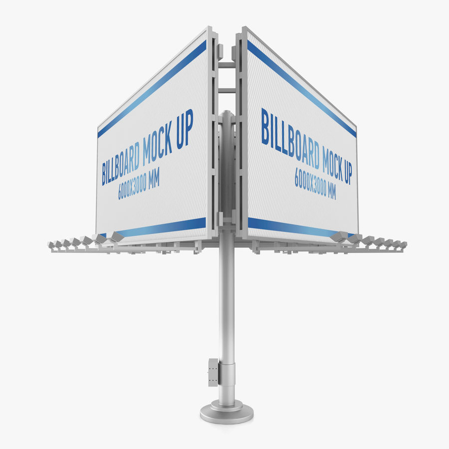 Billboards royalty-free 3d model - Preview no. 29