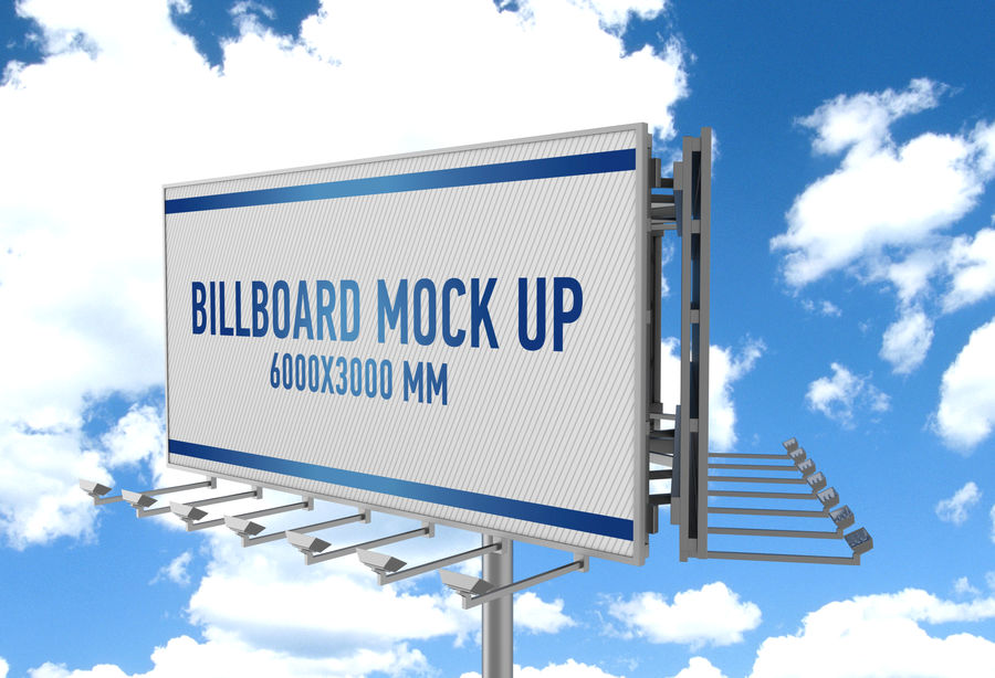 Billboards royalty-free 3d model - Preview no. 32