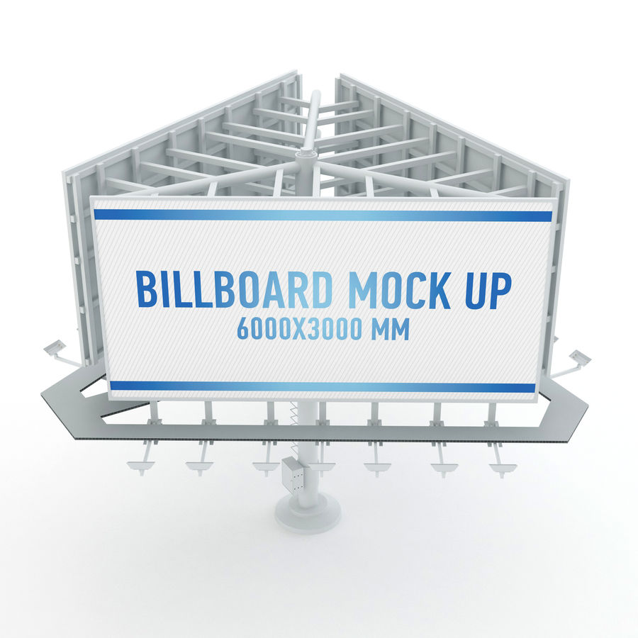 Billboards royalty-free 3d model - Preview no. 25